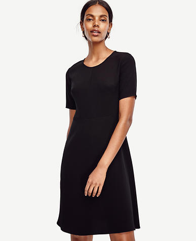 Image of Triacetate Flare Dress