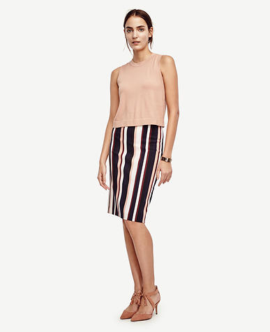 Image of Stripe Pencil Skirt
