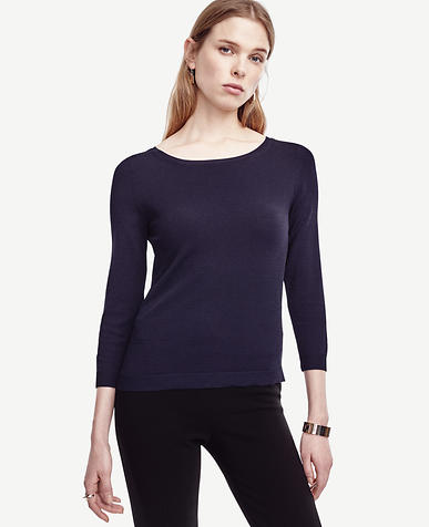 Image of 3/4 Sleeve Boatneck Sweater