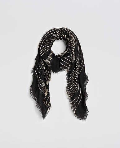 Image of Stitched Stripe Blanket Scarf