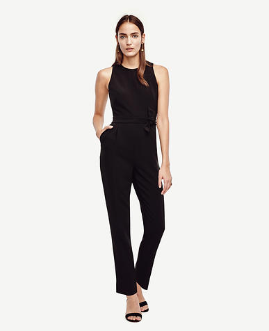Image of Triacetate Doubleweave Jumpsuit