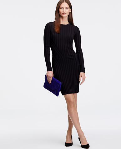 Image of Ribbed Sweater Dress