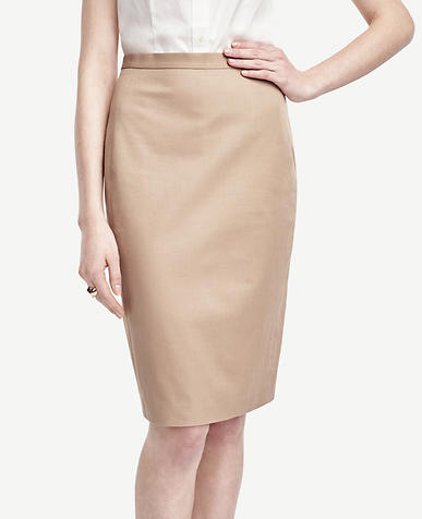 Image of Cotton Blend Pencil Skirt