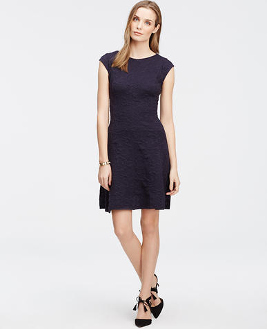 Image of Jacquard Cap Sleeve Dress