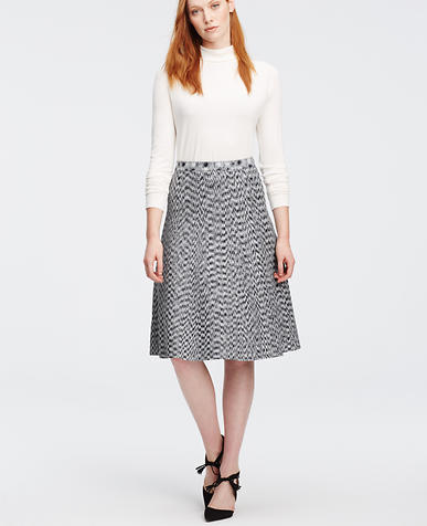 Image of Spacedye Flared Knit Skirt