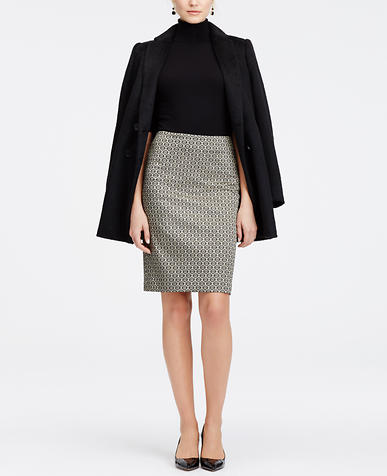Image of Diamond Jacquard Pencil Skirt