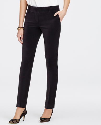 Image of Petite Velvet Ankle Pants