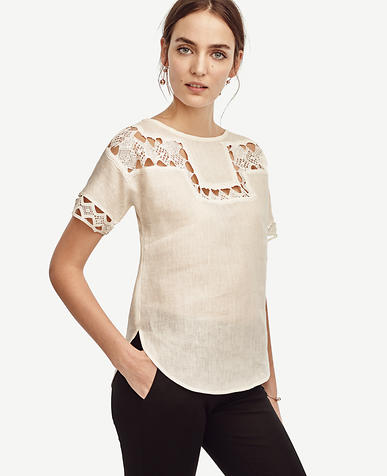 Image of Lacy Linen Tee