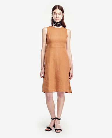 Image of Linen Flare Dress