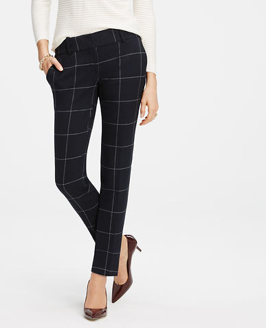 Image of Tall Refined Windowpane Ankle Pants