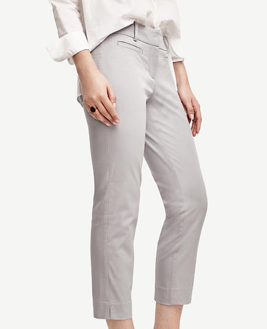 Image of Devin Stretch Cotton Cropped Pants
