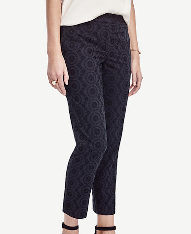 Image of Devin Eyelet Everyday Ankle Pants