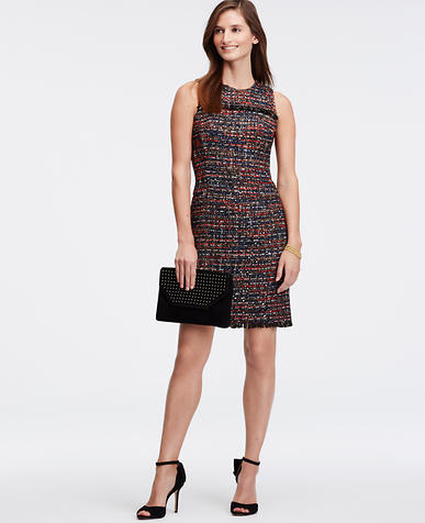 Image of Shimmer Tweed Sheath Dress