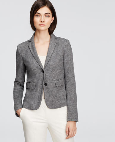Image of Brushed Herringbone Two Button Jacket