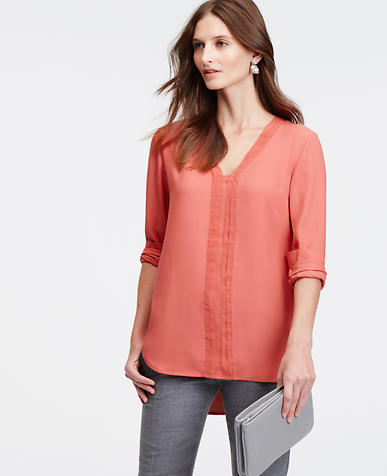Image of Chiffon Trim Tunic