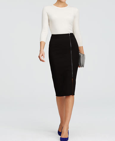 Image of Curvy Long Pencil Skirt