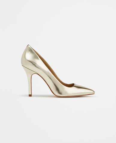 Image of Cynthia Metallic Leather Pumps