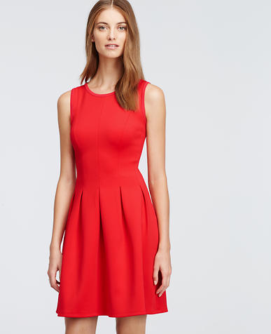 Image of Pleated Flare Dress