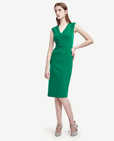 Image of Piped Doubleweave Sheath Dress