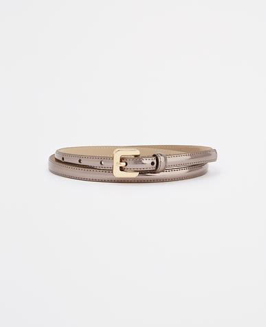 Image of Metallic Skinny Patent Belt