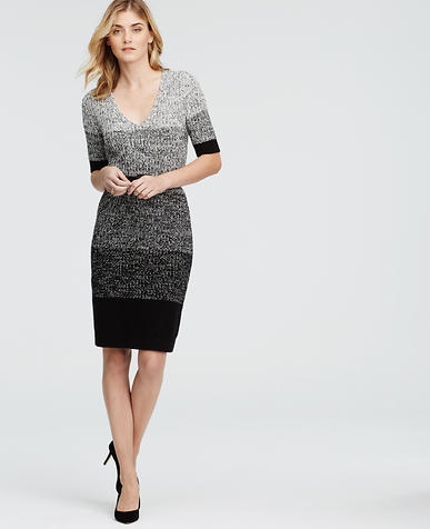 Image of Ombre Marled Sweater Dress