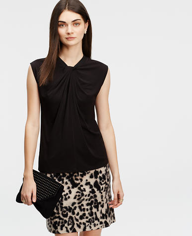 Image of Twist Neck Crepe Top