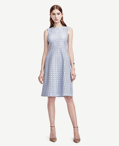 Image of Eyelet Flare Dress