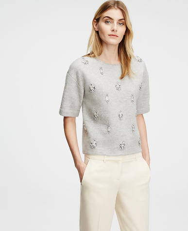 Image of Jeweled Wool Tee
