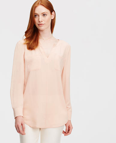Image of Petite Silk Two Pocket Tunic