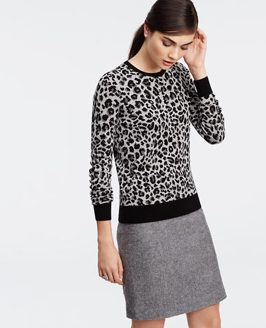 Image of Leopard Print Sweater
