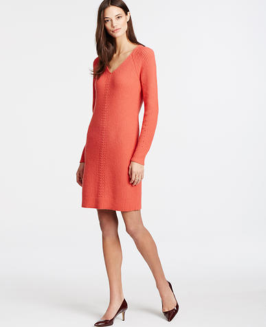 Image of Ribbed Stitch Sweater Dress