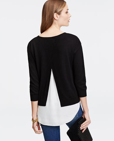 Image of Two-in-One Open Back Sweater