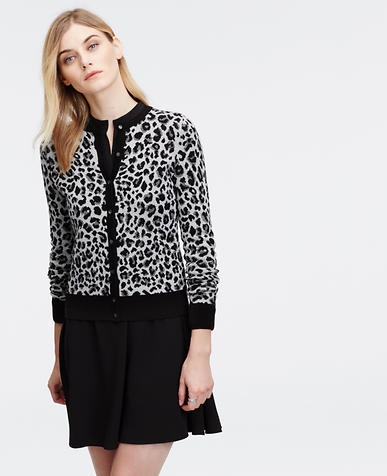 Image of Tall Leopard Print Ann Cardigan