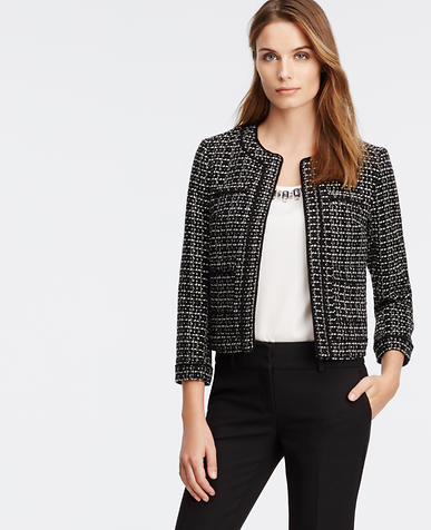 Image of Piped Tweed Jacket