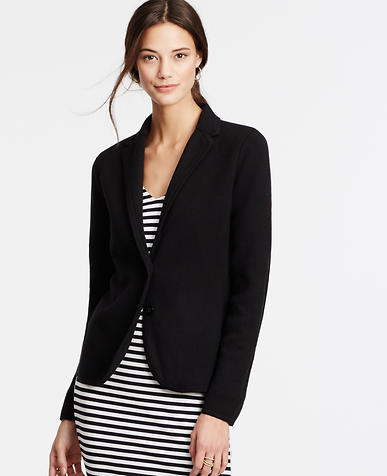 Image of Petite Knit Two Button Blazer