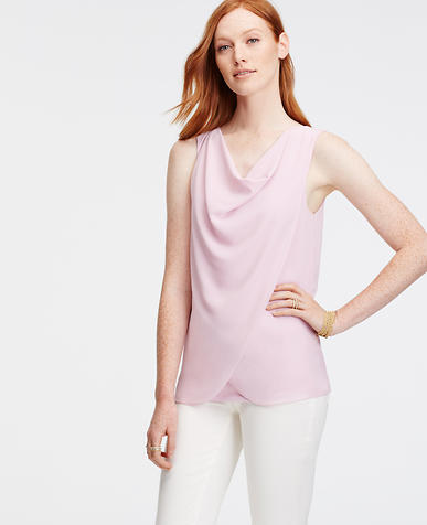Image of Draped Sleeveless Top