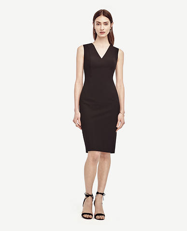 Image of All-Season Stretch Seamed Sheath Dress