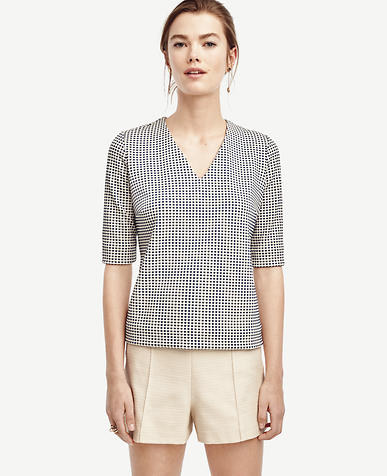 Image of Structured Gingham Top
