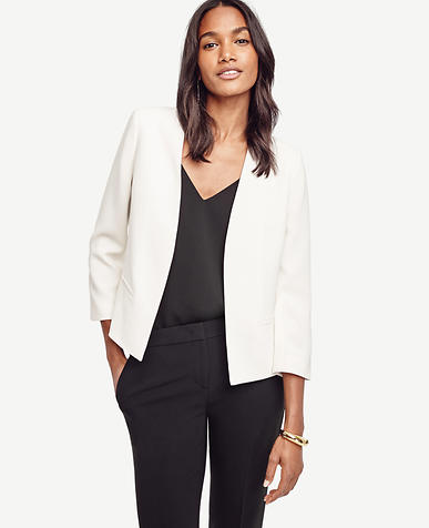 Image of Triacetate Collarless Jacket