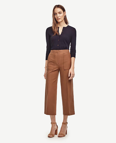 Image of Wide Leg Ankle Pants