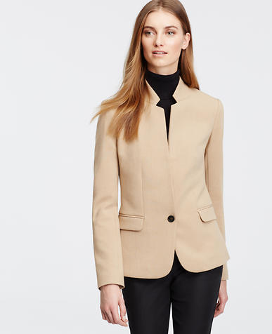 Image of Petite Brushed Camel Blazer