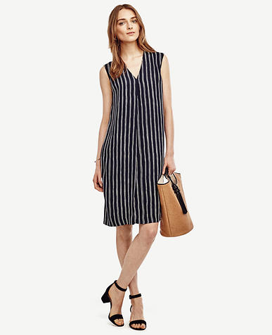 Image of Striped Sleeveless Dress