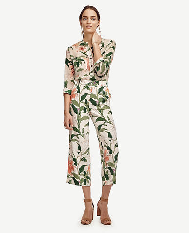 Image of Garden Print Drapey Pants