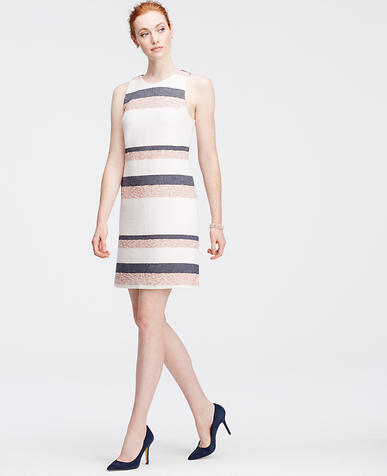 Image of Tall Striped Tweed Shift Dress
