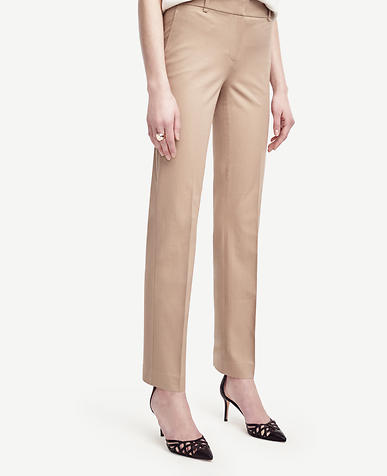 Image of Ann Cotton Blend Straight Leg Pants