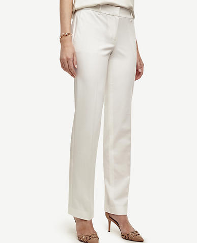 Image of Kate Cotton Blend Straight Leg Pants