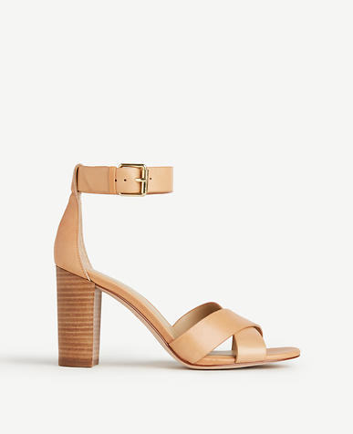 Image of Gigi Leather Block Heel Sandals