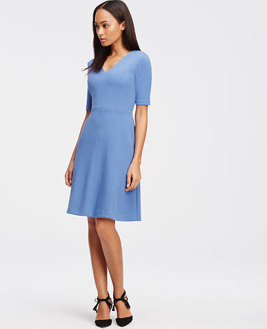 Image of Textured Knit Flare Dress