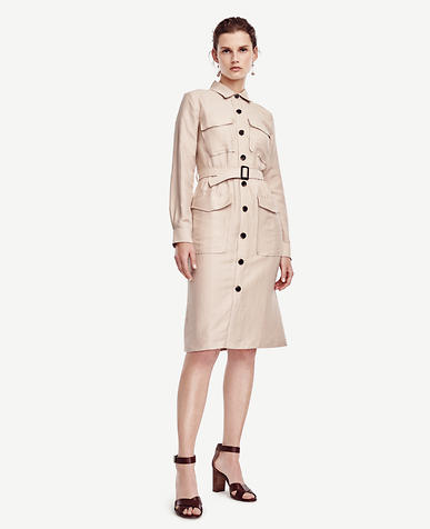 Image of Petite Safari Trench Dress