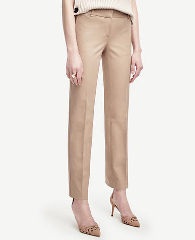 Image of Petite Devin Cotton Blend Straight Leg Pants